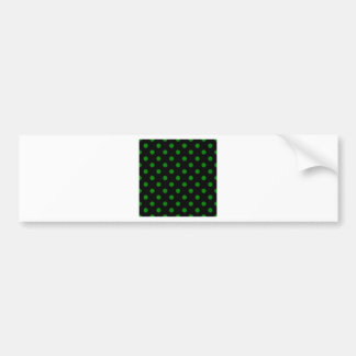 Polka Dots Large - Green on Black Bumper Sticker