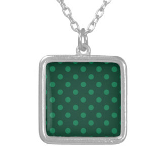 Polka Dots Large - Green on Dark Green Necklaces