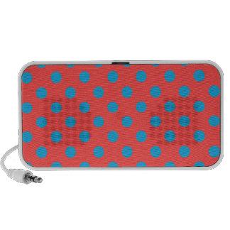 Polka Dots Large - Light Blue on Light Red PC Speakers
