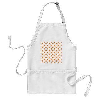 Polka Dots Large - Orange on White Apron