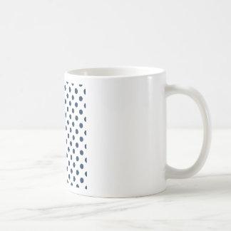 Polka Dots Large - Oxford Blue on White Coffee Mug