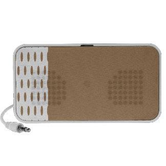Polka Dots Large - Pale Brown on Black Travelling Speaker