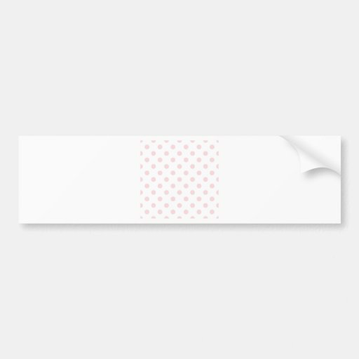 Polka Dots Large - Pale Pink on White Bumper Stickers