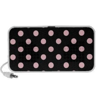 Polka Dots Large - Pink on Black Travelling Speaker