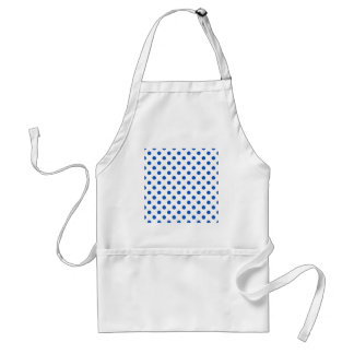 Polka Dots Large - Sapphire on White Standard Apron