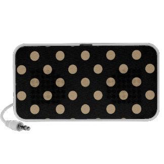 Polka Dots Large - Tan on Black Travelling Speaker