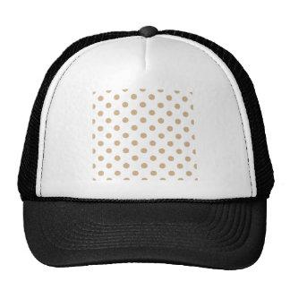 Polka Dots Large - Tan on White Hats