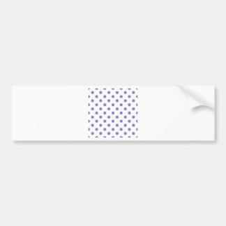Polka Dots Large - Ube on White Bumper Sticker