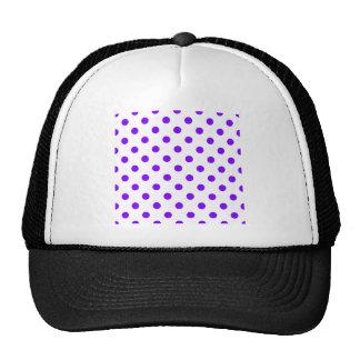 Polka Dots Large - Violet on White Hat
