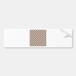 Polka Dots Large - White on Beaver Bumper Sticker