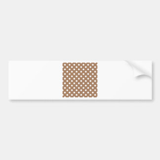 Polka Dots Large - White on Cafe au Lait Bumper Stickers