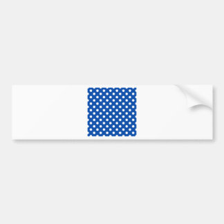 Polka Dots Large - White on Cobalt Bumper Stickers