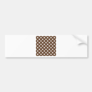Polka Dots Large - White on Coffee Bumper Stickers