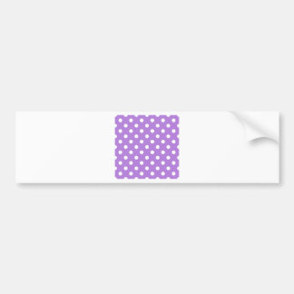 Polka Dots Large - White on Lavender Bumper Stickers
