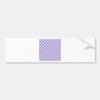 Polka Dots Large - White on Light Pastel Purple Bumper Sticker