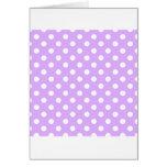 Polka Dots Large - White on Mauve Card