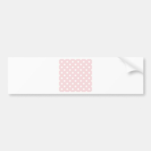 Polka Dots Large - White on Pale Pink Bumper Stickers