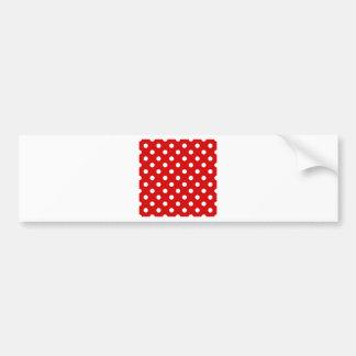 Polka Dots Large - White on Rosso Corsa Bumper Sticker