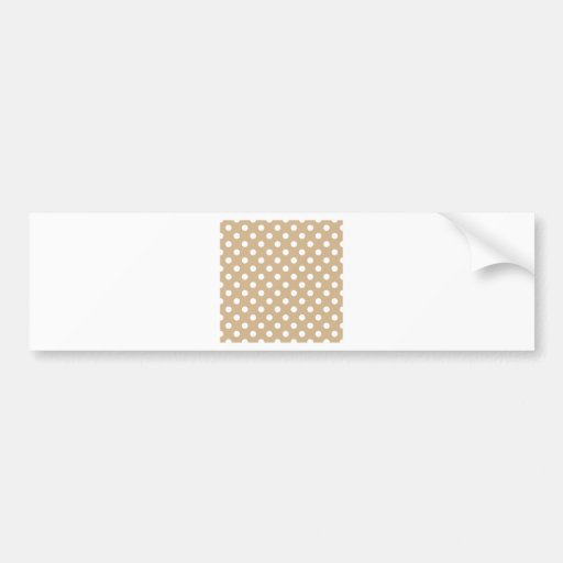 Polka Dots Large - White on Tan Bumper Stickers
