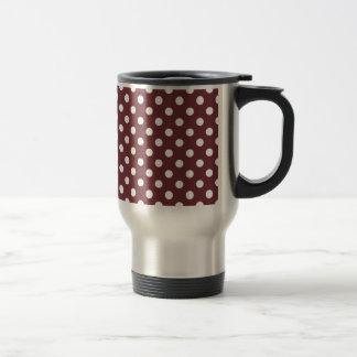 Polka Dots Large - White on Wine Coffee Mug