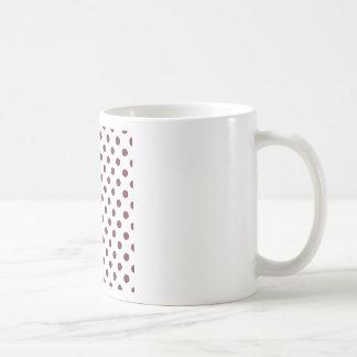 Polka Dots Large - Wine on White Basic White Mug