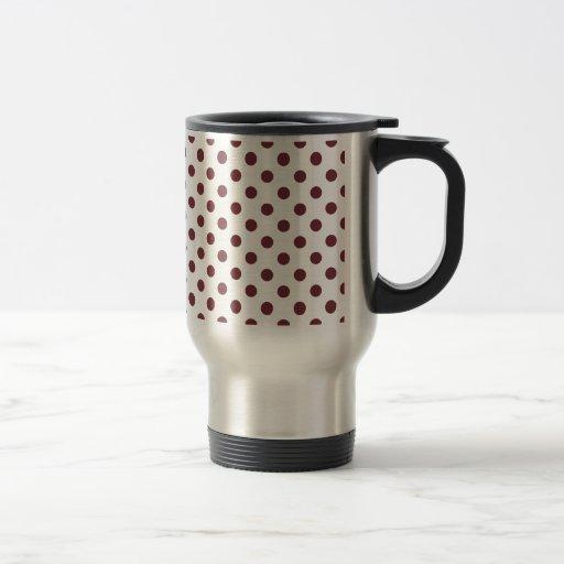Polka Dots Large - Wine on White Mugs