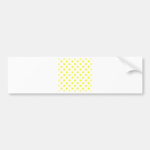 Polka Dots Large - Yellow on White Bumper Sticker
