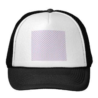 Polka Dots - Light Blue on Light Pink Mesh Hats