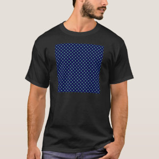 Polka Dots - Light Green on Dark Blue T-Shirt