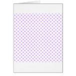 Polka Dots - Mauve on White Greeting Cards