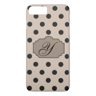 Polka Dots Monogram with Initial iPhone 7 Plus Case