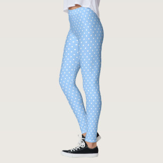 Polka Dots on Baby Blue Leggings