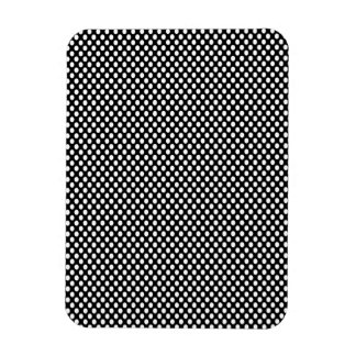 Polka Dots on Black Rectangular Photo Magnet