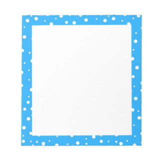 Polka Dots on Blue Background Notepads