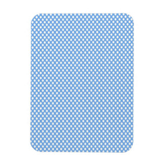 Polka Dots on Blue Rectangular Photo Magnet