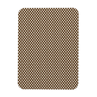 Polka Dots on Brown Rectangular Photo Magnet