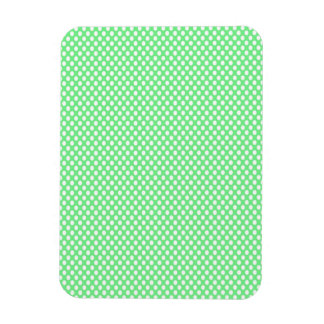 Polka Dots on Green Rectangular Photo Magnet