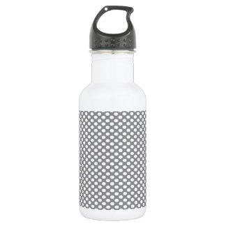 Polka Dots on Grey 532 Ml Water Bottle