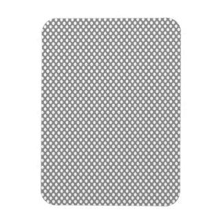 Polka Dots on Grey Rectangular Photo Magnet