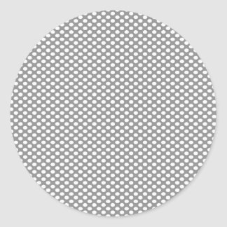 Polka Dots on Grey Round Sticker