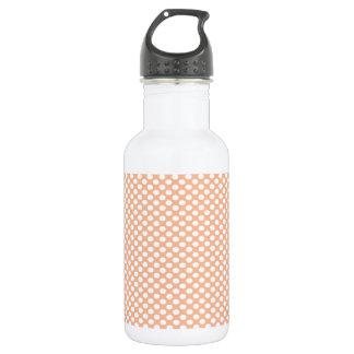 Polka Dots on Peach 532 Ml Water Bottle
