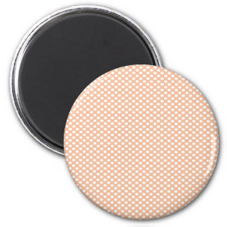 Polka Dots on Peach 6 Cm Round Magnet