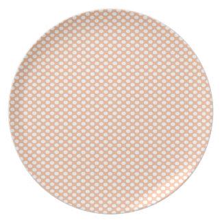 Polka Dots on Peach Plate