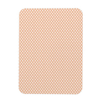 Polka Dots on Peach Rectangular Photo Magnet