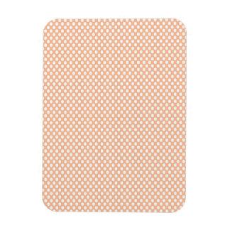 Polka Dots on Peach Rectangular Photo Magnet