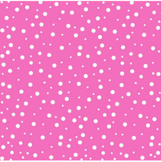 Polka Dots on Pink Background Standing Photo Sculpture