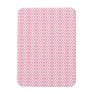 Polka Dots on Pink Rectangular Photo Magnet