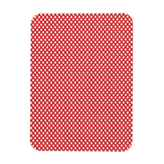 Polka Dots on Red Rectangular Photo Magnet