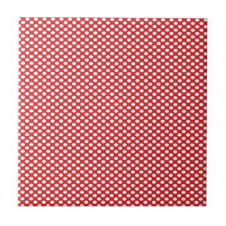 Polka Dots on Red Tile