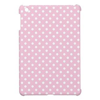 Polka dots on sweet pink background iPad Mini Case